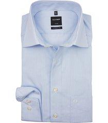 olymp luxor modern fit shirt lichtblauw gestreept