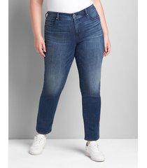 lane bryant women's seven7 straight jean - dark wash 20 dark denim