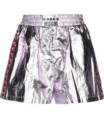 msgm x diadora shorts