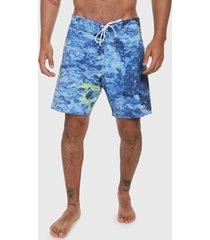 traje de baño azul-multicolor oakley waves 18