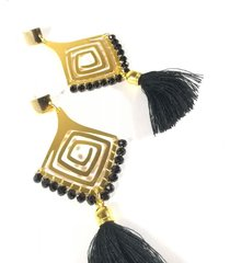 aretes espiral negro color block
