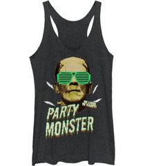 fifth sun universal monsters women's frankenstein party monster tri-blend tank top