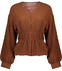 13216-20 blouse jasje wafel
