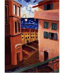 "patricia a. reed cafe la mer canvas art - 36.5"" x 48"""