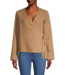 mansur gavriel women's cashmere wrap top - camel - size xs