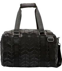 patrizia luca women's geo slanted square weekender duffle bag - matte black