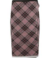 miu miu diamond patterned skirt