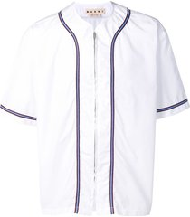 marni zip-up shirt - white