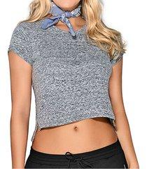 blusa lourdes gris para mujer croydon