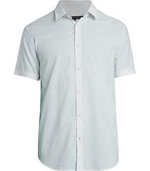 slub-print short-sleeve shirt