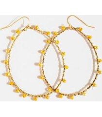 brielle beaded teardrop earrings - mustard