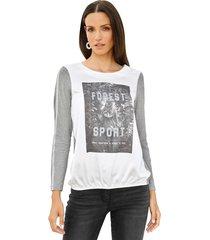 shirt amy vermont grijs::wit