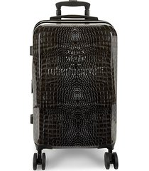 crocodile-print 23.5-inch carry-on suitcase