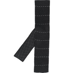 hermès 2000s pre-owned embroidered dash scarf - black