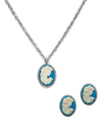 patricia nash cameo jewelry set