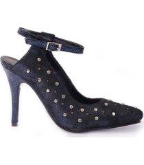 sandalia azul micheluzzi