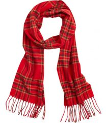 bufanda wool tartan rojo brooks brothers