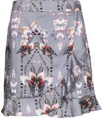 deena skirt kort kjol grå by malina