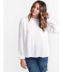 blusa para mujer en rayon crepe blanco color-blanco-talla-l