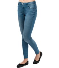 only womens allan push up skinny jeans size 32r in blue