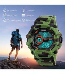camuflaje verde reloj skmei hombre deportivo contra agua