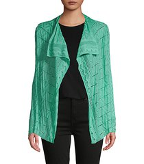 perforated wool-blend cardigan