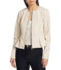 avery vegan leather zip jacket