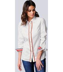 blouse alba moda wit::oranje::marine