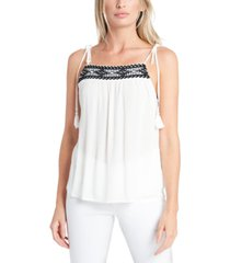 1.state embroidered tie-strap camisole