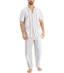 club room men's striped pajamas, created for macy's