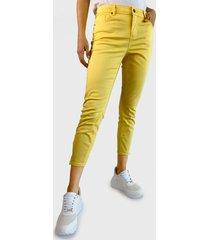 pantalón vero moda amarillo - calce ajustado