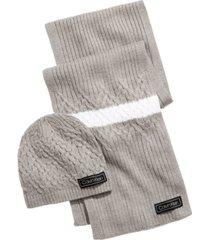 calvin klein men's modern varsity cap & scarf set