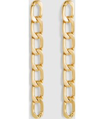 reiss lexi - brushed plated gold earrings in gold, womens