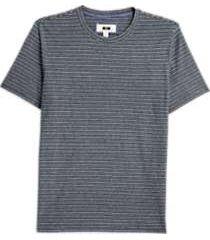 joseph abboud navy jacquard stripe modern fit t-shirt