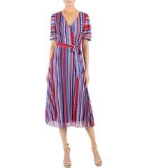 julia jordan printed striped midi dress