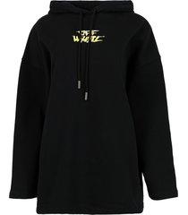 watercolor type over hoodie