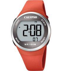 reloj color run naranja calypso
