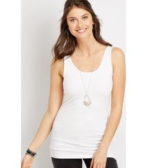 maurices womens basic scoop neck tank top white