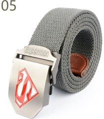 cinturón de hombres, cinturón casual unisex correa de-gris