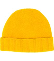 drumohr turn-up beanie hat - yellow