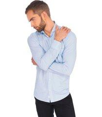 camisa business casual premium super stretch para hombre 91007