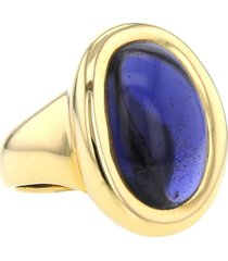 cartier 1994 pre-owned 18kt yellow gold baignoire ring - gold, purple