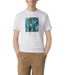abstract-print katoenen t-shirt