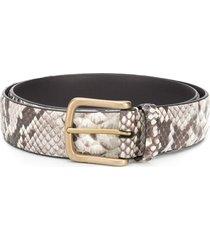 anderson's snakeskin print belt - brown