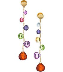 paradise drop earrings with mixed gemstones