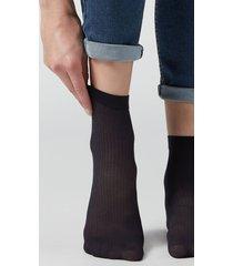 calzedonia women's patterned sheer socks woman blue size tu