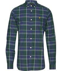 check poplin shirt skjorta casual multi/mönstrad lyle & scott