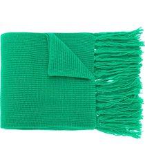 ami fisherman's rib scarf - green