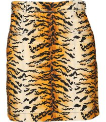 philosophy di lorenzo serafini philosophy tiger velvet mini skirt