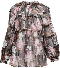 zimmermann charm tiered blouse